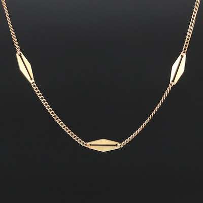 14K Fancy Link Necklace