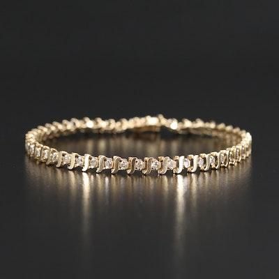 14K 1.02 CTW Diamond Line Bracelet