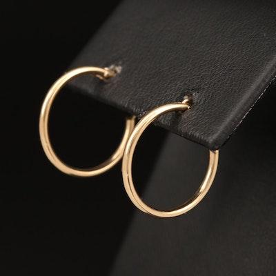 14K Small Hoop Earrings