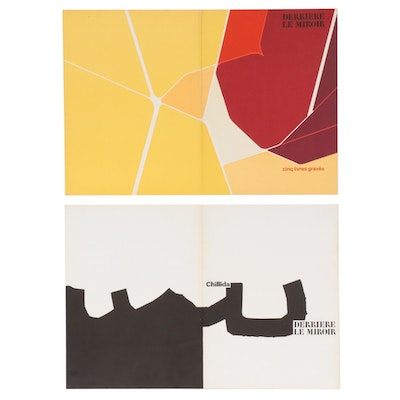 "Eduardo Chillida and Pablo Palazuelo Lithograph Covers for ""Derrière le Miroir"""