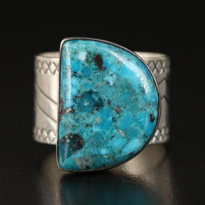 Desert Rose Trading Sterling Turquoise Ring