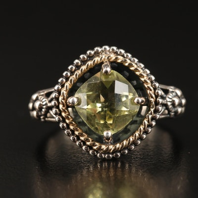 Sterling Citrine Ring with 14K Accents