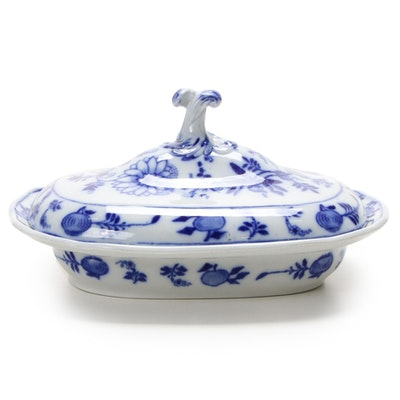 "England China ""Meissen"" Covered Serving Dish, Early to Mid 20th Century"
