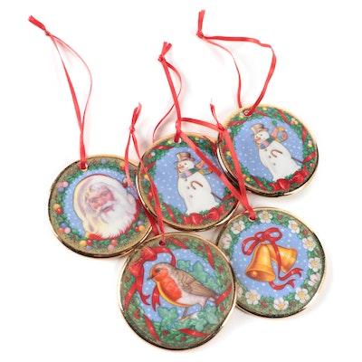 "Carol Lawson for Royal Doulton ""The Joys of Christmas"" Bone China Ornaments"