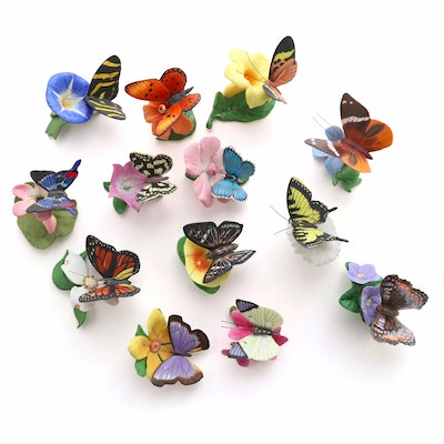 "Franklin Mint ""Butterflies of the World"" Porcelain Figurines"