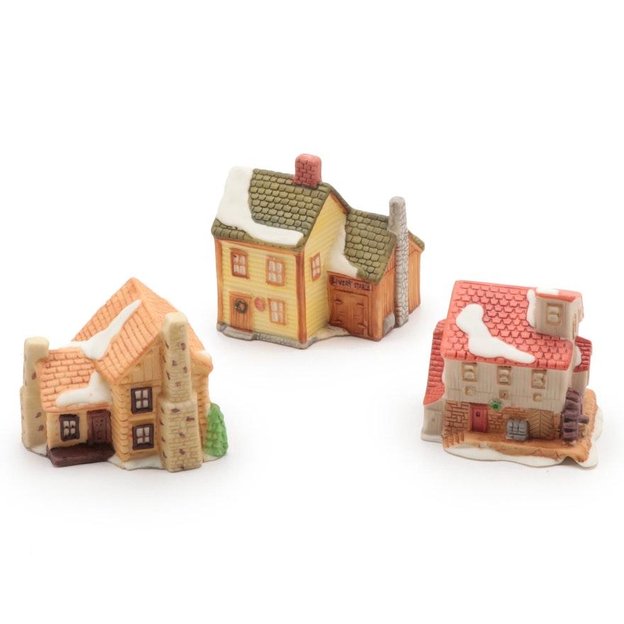 """Department 56 """"New England Village"""" Porcelain Ornaments"""
