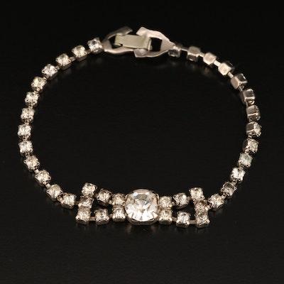 Vintage Rhinestone Bow Bracelet