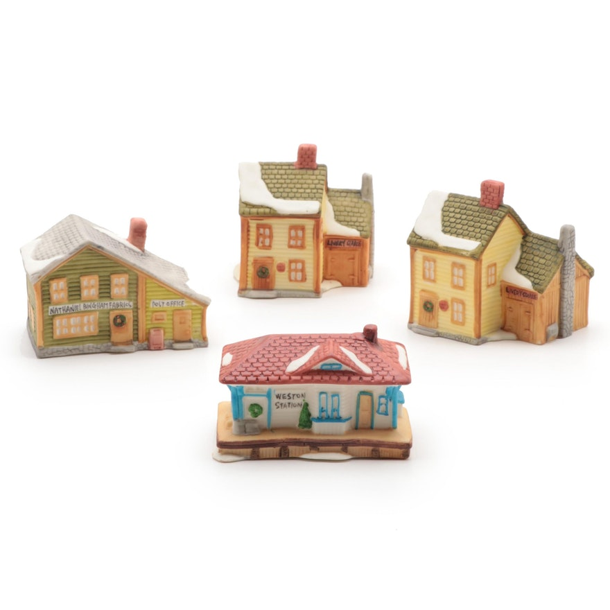 """Department 56 """"New England Village"""" Light Up Ornaments"""