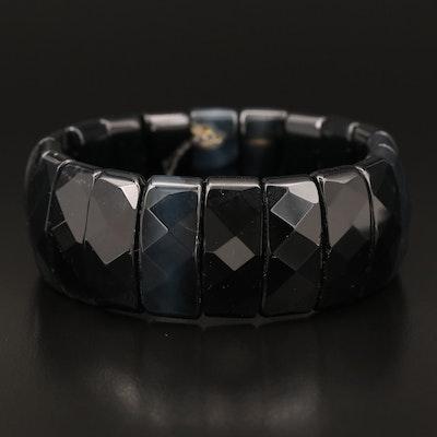 Faceted Onyx Bracelet
