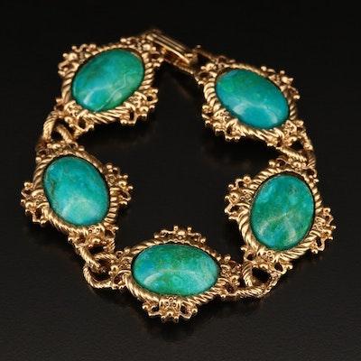 Oval Cabochon Panel Bracelet