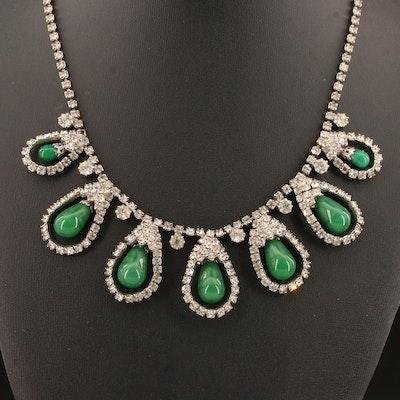 Vintage Kramer Rhinestone Drop Necklace