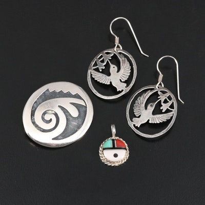 Sterling Silver Jewelry Featuring Marcus Coochwikvia Hopi