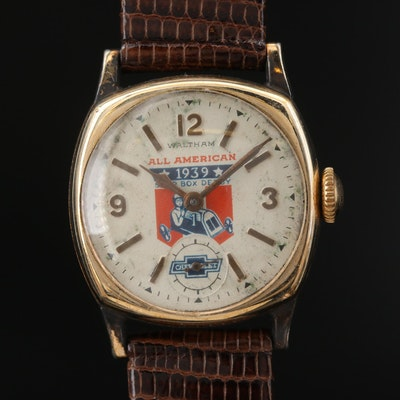 "1936 Waltham ""All American Soap Box Derby"" 10K Rolled Gold Plate Wristwatch"