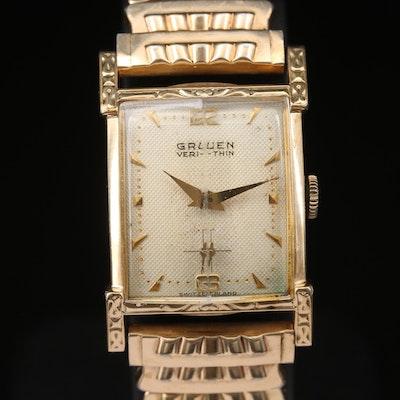 Gruen Veri-Thin Rolled Gold Plate Wristwatch
