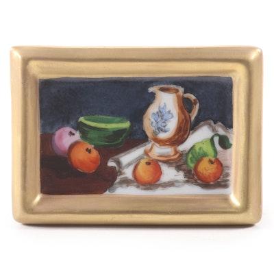 """La Gloriette """"Still Life by Cézanne"""" Porcelain Limoges Box"""