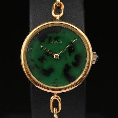 Vintage Gucci 18K Gold Stem Wind Wristwatch
