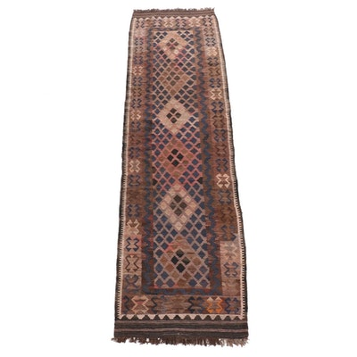 2'6 x 9'3 Handwoven Turkish Kilim Runner Rug