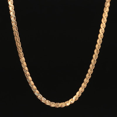 Gold Filled Serpentine Chain Necklace