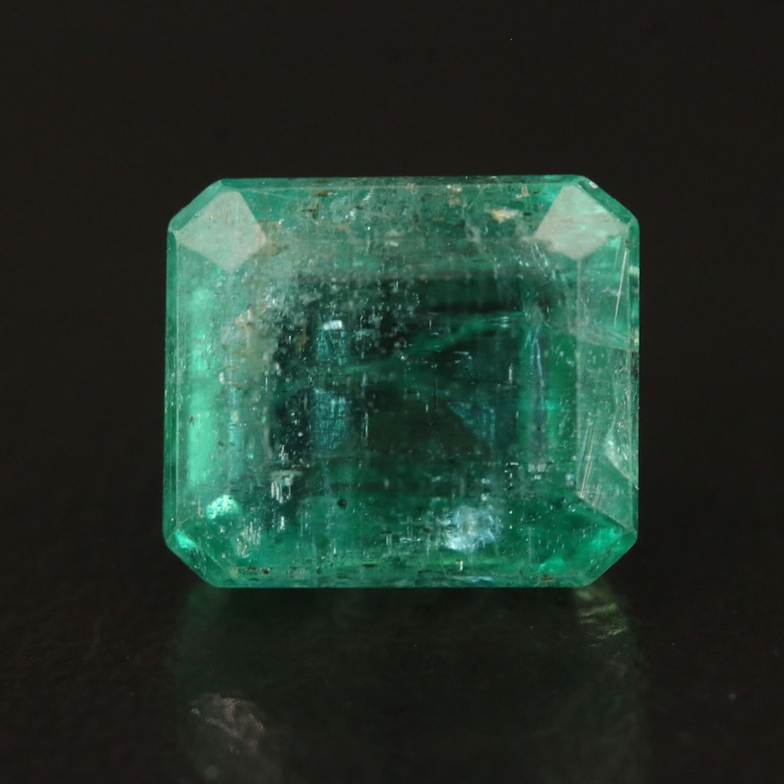 Loose 4.24 CT Emerald with GIA Report