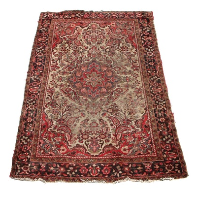 4'9 x 7'8 Hand-Knotted Persian Kashan Area Rug