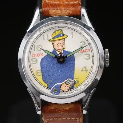 Vintage New Haven Dick Tracy Stem Wind Wristwatch