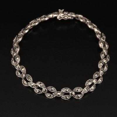 Vintage Sterling Marcasite Bracelet