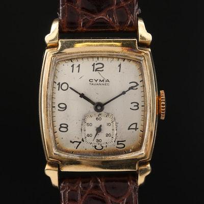 Vintage Cyma 10K Rolled Gold Plate Stem Wind Wristwatch