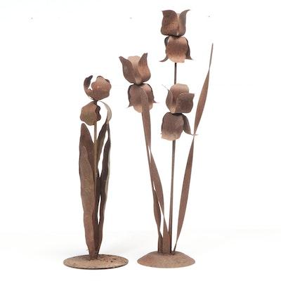 Iron Iris Lawn Ornaments