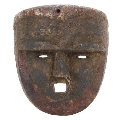 Eket Style Hand-Carved Wood Mask, Nigeria