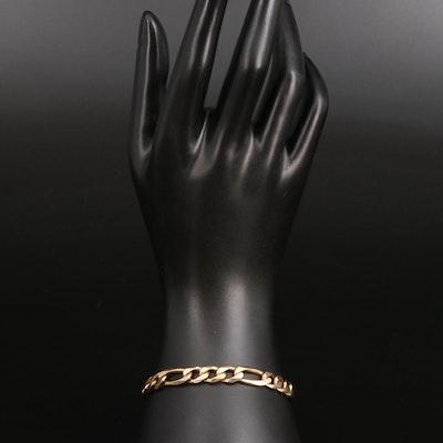 Milor 14K Figaro Link Bracelet