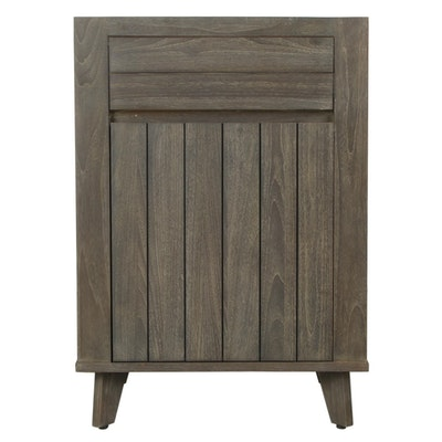 "24"" ""Baltik"" Gray Finish Teak Bathroom Vanity Cabinet"