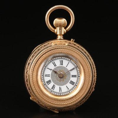Vintage 14K Gold Pocket Watch