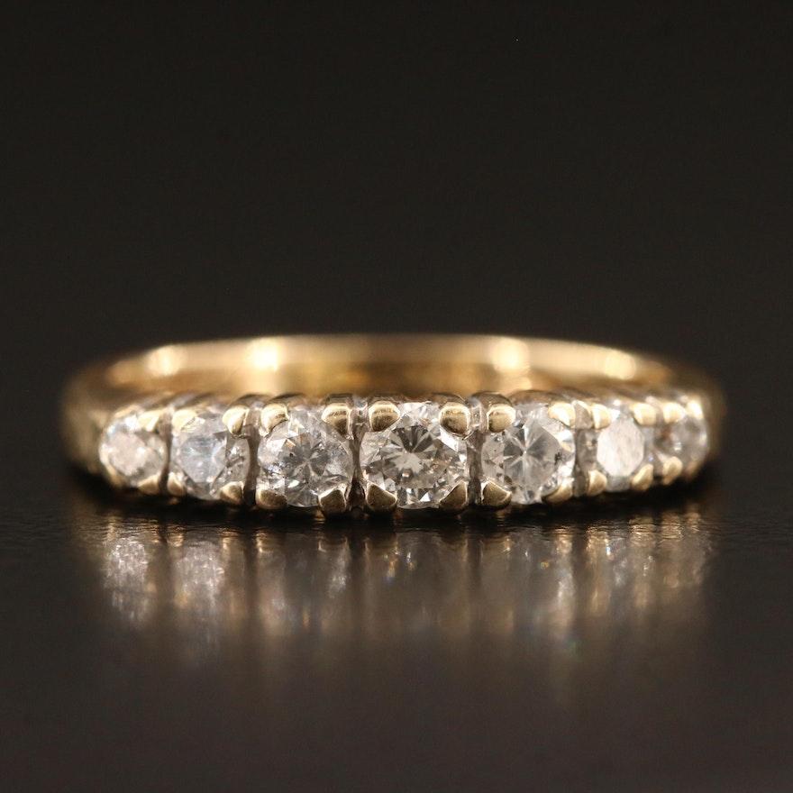 14K Graduated Diamond Ring