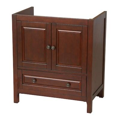 Birch Veneer Wooden Bathroom Vanity Cabinet