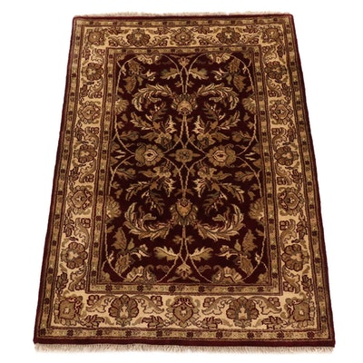 4' x 6'2 Hand-Knotted Indo Tabriz Wool Rug