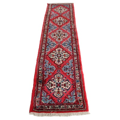 2'1 x 9'8 Hand-Knotted Indo-Persian Heriz Carpet Runner