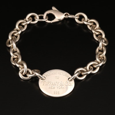 "Tiffany & Co. ""Return to Tiffany"" Sterling Silver Link Bracelet"