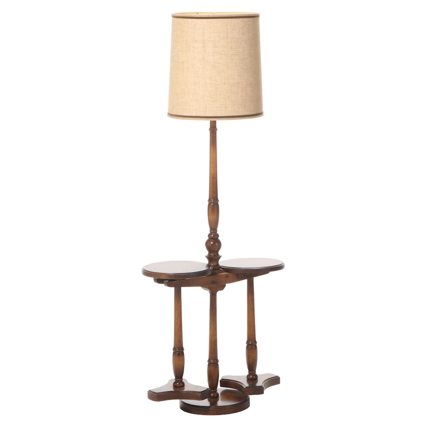 American Floor with Double Sided Table Lamp, Mid to Late 20th Century
