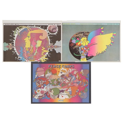 """Peter Max Offset Lithographs from """"The Peter Max Poster Book"""""""