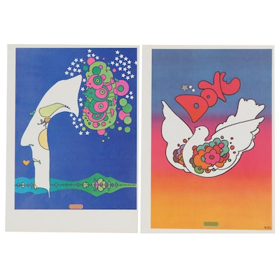 Peter Max Offset Lithographic Prints