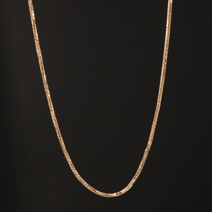 14K Fancy Link Chain Necklace