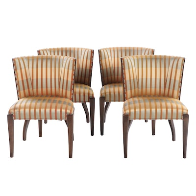 "Four Ferguson Copeland ""Laslo"" Upholstered Dining Chairs"