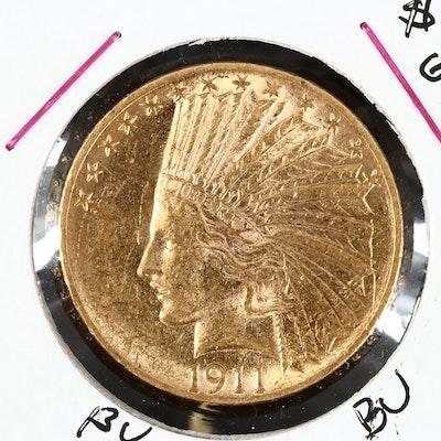 1911 Indian Head $10 Gold Eagle