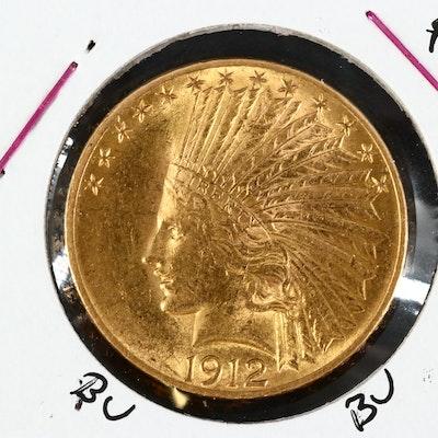 1912 Indian Head $10 Gold Eagle