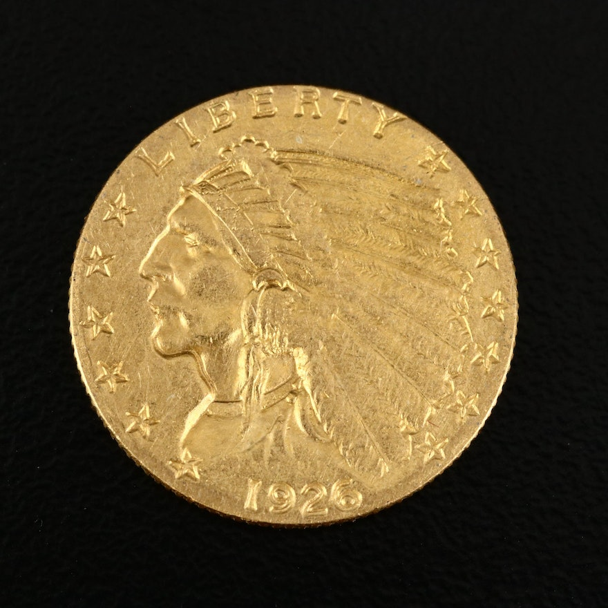 1926 Indian Head $2.50 Gold Quarter Eagle