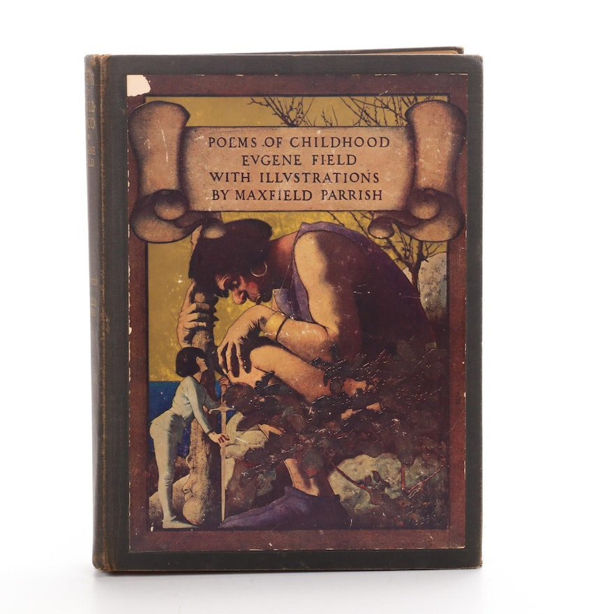 """Maxfield Parrish Illustrated First Edition """"Poems of Childhood"""" by Eugene Field"""