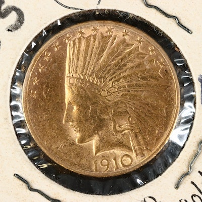 1910-S Indian Head $10 Gold Eagle