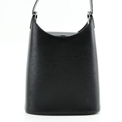 Louis Vuitton Verseau Shoulder Bag in Black Epi Leather and Smooth Leather