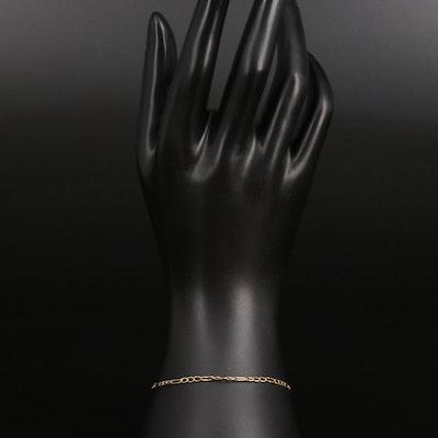 14K Figaro Chain Bracelet