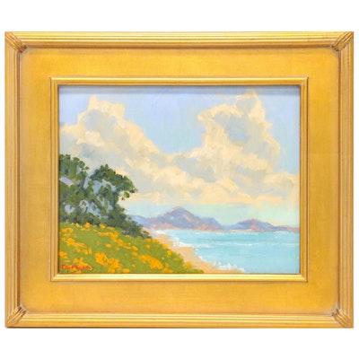 "Marc A. Graison Oil Painting ""Coastal Skies,"" 2020"